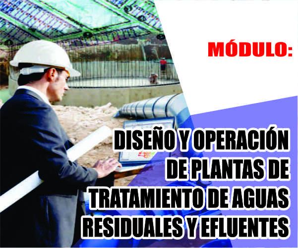 MÓDULO: DISEÑO Y OPERACIÓN DE PLANTAS DE TRATAMIENTO DE AGUAS RESIDUALES Y EFLUENTES
